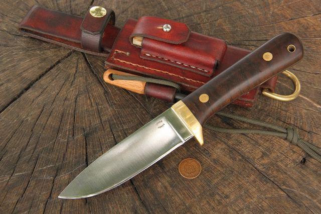 Trekker Sheath, Lucas Forge, Ike Leather Products, Ike's Outfitters, Custom Leather Knife Sheath, Leather Knife Sheath Survival Kit, Survival Kit for Your Belt