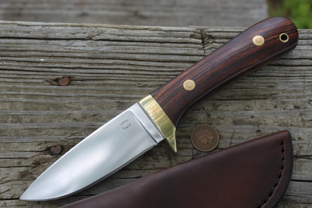 Classic Hunter, Hunting Knife, Brass Guard, Custom Hunting Knives, Lucas Forge, Backwoodsman, Handmade Hunting Knife