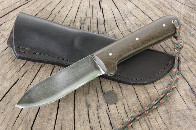 Micarta, Kephart, Kephart Knife, Custom Hunting Knives, Custom Knives, Lucas Forge, Custom Full Tang Knife