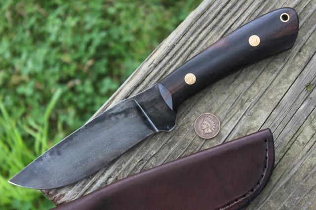 Mini Jaguar Knife, Custom Hunting Knife, Hunting Knife, Custom Made Knife, Lucas Forge Knife, Survival Knife