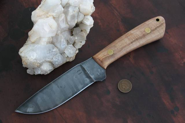 Custom Hunting Knives, Camp Knife, Lucas Forge