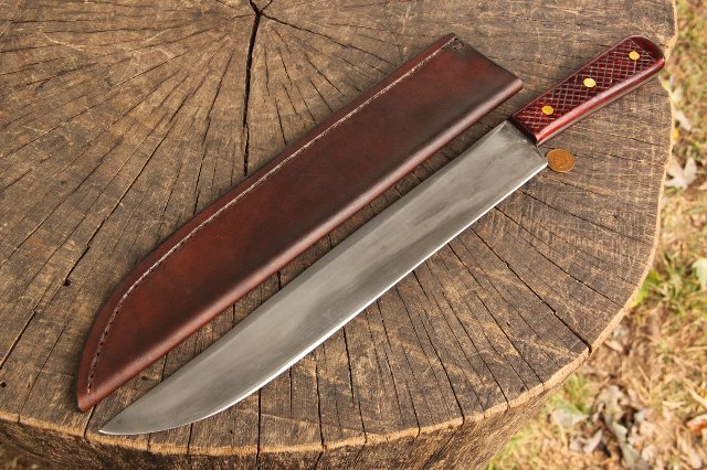 Edwin Forrest Knife, Forrest Knife, Historic Reproduction Knife, Custom Knife, Custom Hunting Knife, Bowie Knife