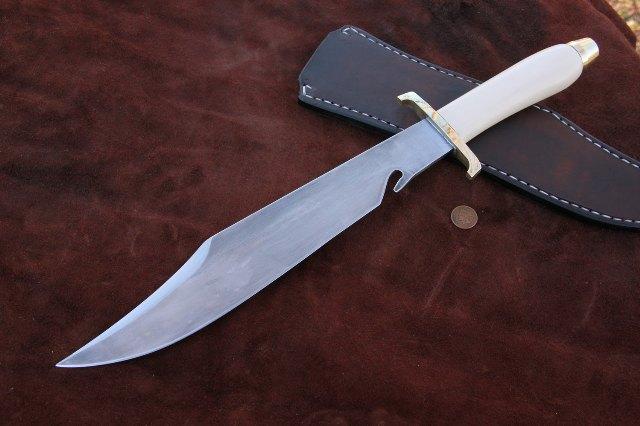 Gone to Texas, Bowie Knife, Micarta Handle, Custom Knife, Reproducting Knife, Michael Beck, Lucas Forge