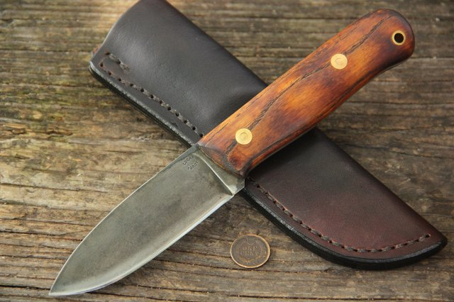 Bush Knife, Custom Hunting Knives, Lucas Forge, Lucas Knives