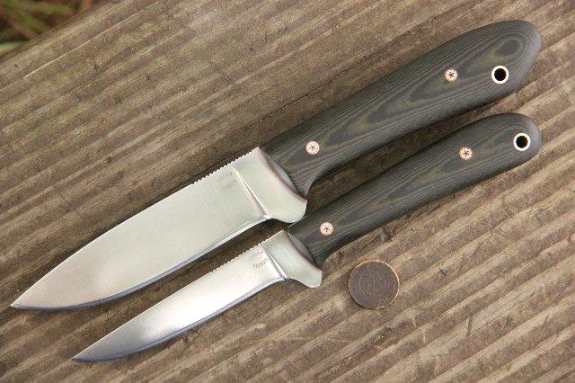 Knife Set, Custom Knives, Custom Knife Set, Lucas Forge, Hunting Knives, Backwoodsman Knives