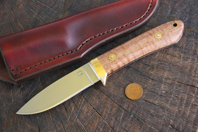 Drop Point Hunting Knife, Custom Hunting Knife, Lucas Forge, Custom Knife, Hunting Knife, Lucas Knives