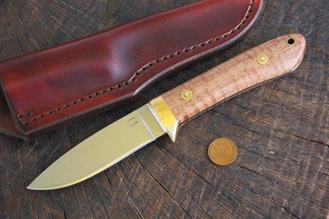 Drop Point Hunting Knife, Custom Hunting Knife, Lucas Forge, Custom Knife, Hunting Knife, Lucas Knives