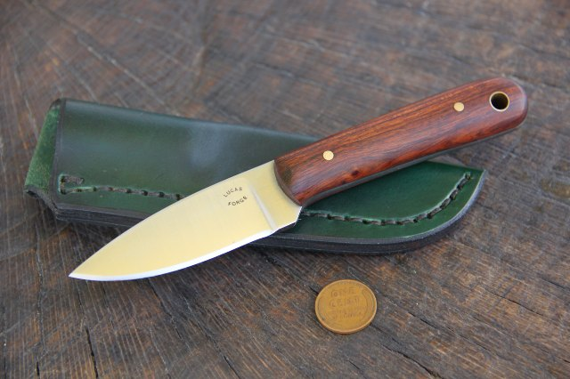 Custom Hunting Knives, Lucas Forge, Ironwood, Custom Knives, Belt Knife