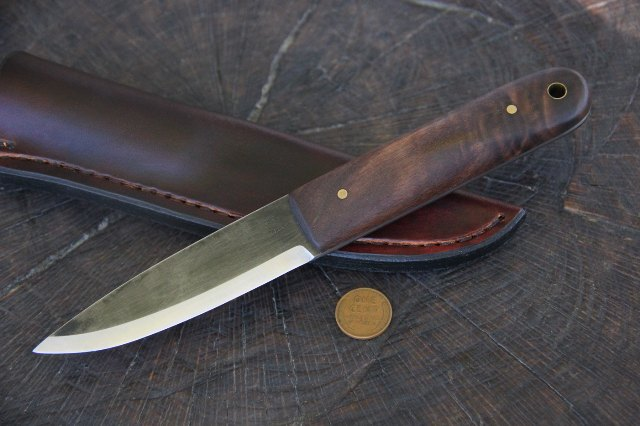 Custom Hunting Knives, Lucas, Forge, Scandinavian Knife, Eskimo Knife, Survival Knife, Viking Knife, Skinning Knife, Hunting Knife