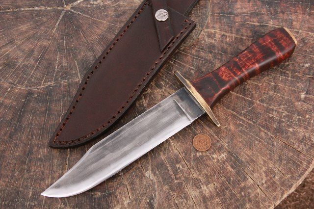Handmade Bowie Knife, Custom Hunting Knives, Lucas Forge, Lucas Knives, Custom Hunter