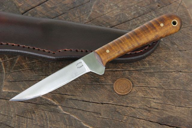 Skinning Knife, Custom Skinning Knife, Custom Hunting Knife, Lucas Forge, Custom Knife