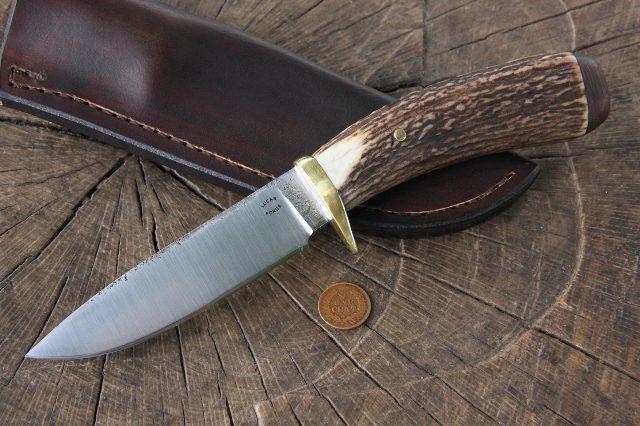 Custom Antler Handled Knife, Custom Knife, Lucas