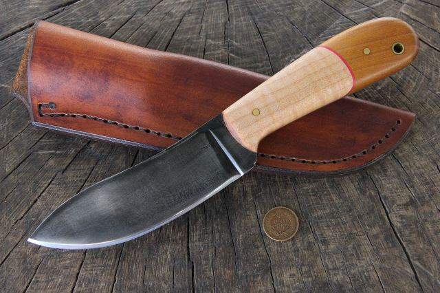 Custom Knives, Nessmuk Knife, Custom Nessmuk Knife, Lucas Forge, Knifemaker
