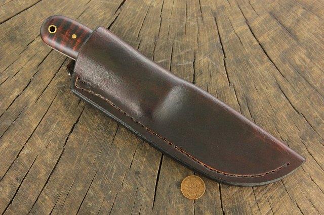 Knife in Sheath, Lucas Forge