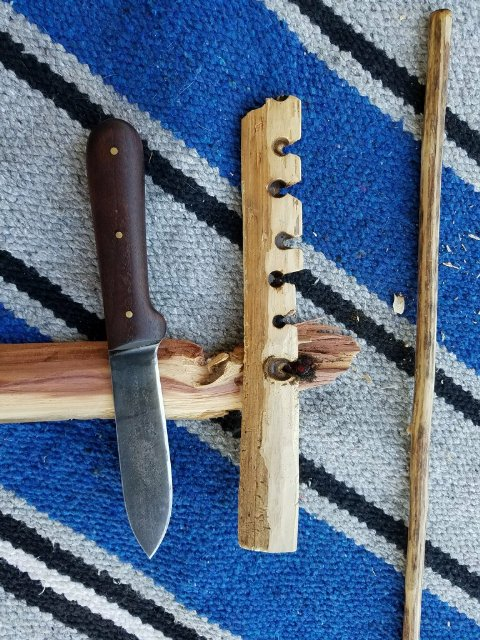 Hand Drill, How to Start Fire with a Hand Drill, Lucas Forge, Hunting Knives, Custom Knives