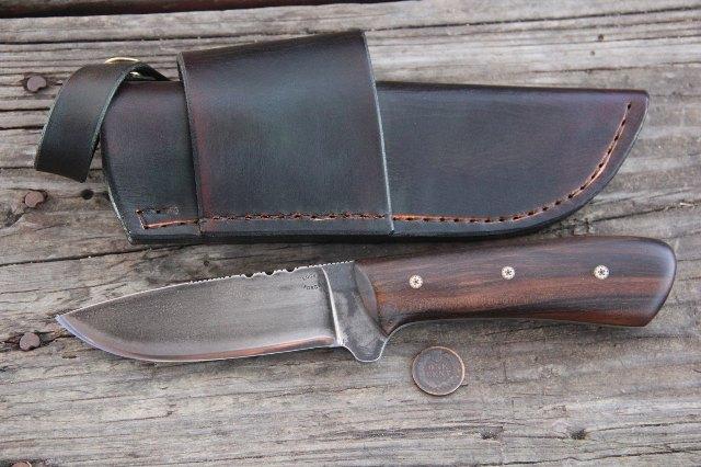 Hunter, Hunting Knife, Custom Hunting Knife, Lucas Forge