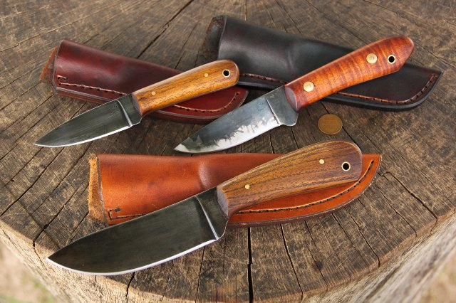 Handmade Custom Knives, Handmade Leather Sheaths, Custom Hunting Knives, Full Tang Knives, Lucas Forge, Knives by Lucas, Sheaths by Ike