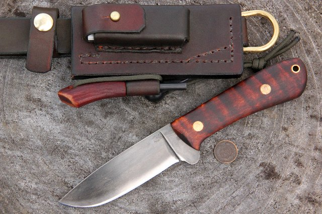Hunting Knife, Custom Hunting Knife, Lucas Forge Knives, Elk River Hunter