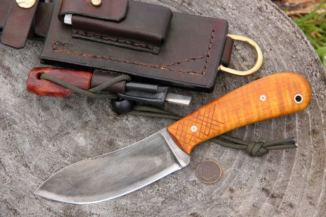 Woodsman, Nessmuk, Nessmuk Knives, Who was Nessmuk?, What is Nessmuk?, Woodsman Nessmuk, Lucas Forge Nessmuk, Custom Hunting Knives, Hunting Knives, Handmade Knives