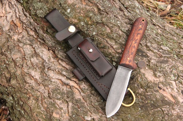 Trekker Sheath, Handmade Sheath, Custom Leather Sheath, Lucas FOrge Knives, Custom Hunting Knife, Custom Outdoor Knife