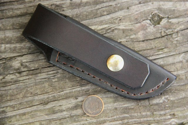 Snap Pocket Sheath, Leather Sheaths, Knife Sheaths, Lucas Forge, Custom Knives