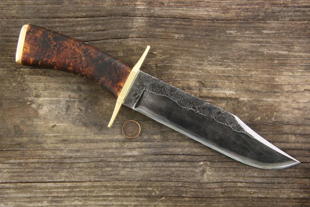 Custom Bowie Knife, Bowie Knife, Replica Bowie Knife, Reproduction Bowie Knife, Custom Hunting Knives, Lucas Forge