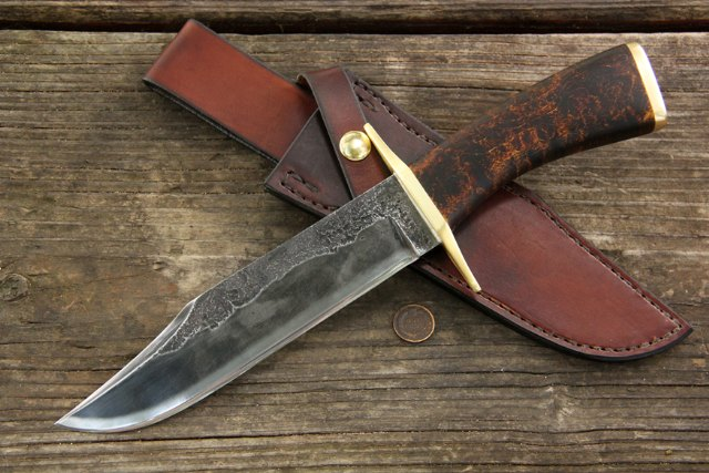 Custom Bowie Knife, Bowie Knife, Custom Historical Knives, Lucas Forge