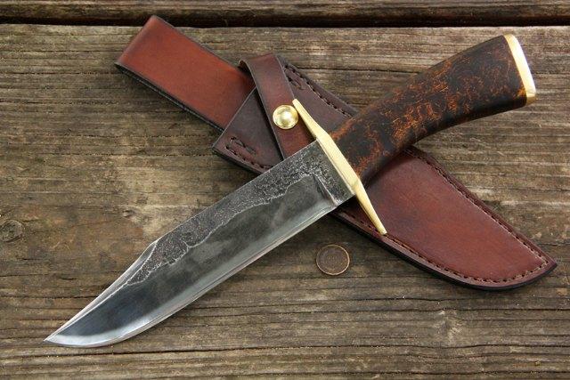 Custom Bowie Knife, Bowie Knife, Custom Historical Knives, Lucas Forge