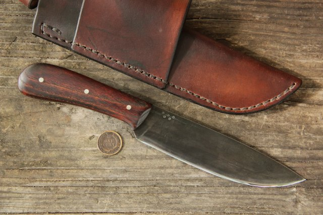 Walnut Trade Knife Reverse