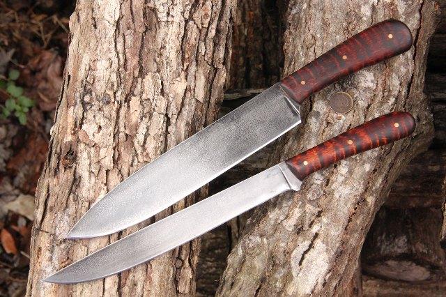 Chef Knife, Custom Chef Knife, Custom Kitchen Knives, Grill Knife, Custom Grill Knife, Lucas Forge