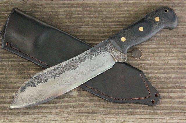 Chopping Knife, Custom Chopping Knife, Lucas Forge Custom Knives, Lucas Forge, Custom Camp Knives, Camp Knife