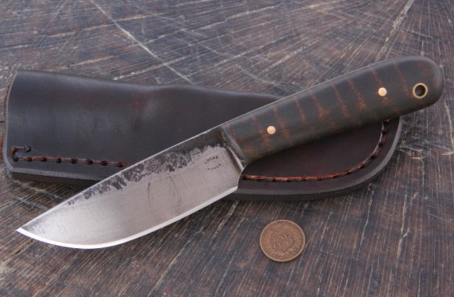Forged Knives, Custom Forged Knife, Lucas Forge, Custom Hunting Knives, Belt Knife, Hunting Knife, Hunting Knives