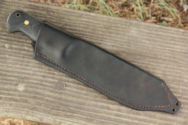 Sheath, Custom Knife Sheaths, Lucas Forge, Custom Hunting Knives, Custom Camp Knife, Camp Knife, Chopping Knife, Hand Forged Knife, Forged Knife