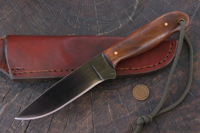 Bushcraft Knife, Custom Hunting Knives, Lucas Forge, Hunting Knife, Skinning Knife, Custom Skinning Knife, Trapper Knife, Trappers Knife