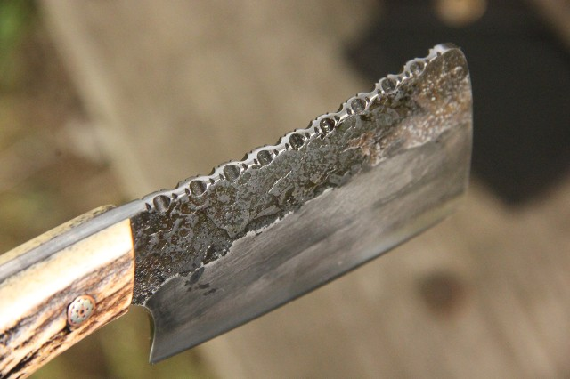 Cheese Cleaver, Lucas Forge Gift Knives, Custom Hunting Knives