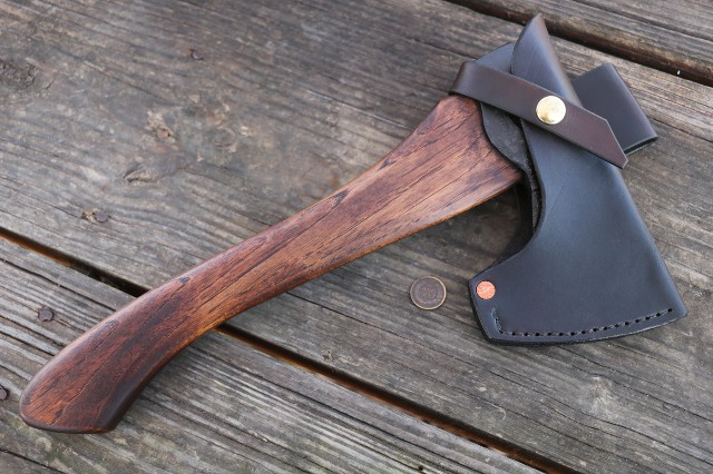 Hand Forged Axes, Axes Made in the US, Custom Axes, Lucas Forge, Custom Knives